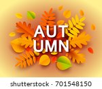 autumn banner background with... | Shutterstock .eps vector #701548150