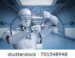 3d rendering humanoid robot... | Shutterstock . vector #701548948