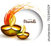 happy diwali illustration... | Shutterstock .eps vector #701549329