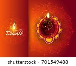 happy diwali illustration ... | Shutterstock .eps vector #701549488