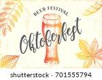 oktoberfest celebration design...   Shutterstock .eps vector #701555794