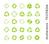 recycling ecology thin line... | Shutterstock .eps vector #701558266