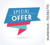 special offer banner | Shutterstock .eps vector #701561770