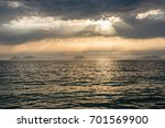 seascape at sunset with cies... | Shutterstock . vector #701569900