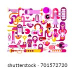 bright colors isolated on a... | Shutterstock .eps vector #701572720