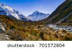 trekking to the foot hill of... | Shutterstock . vector #701572804