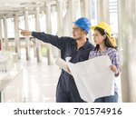 engineer people meeting working ... | Shutterstock . vector #701574916