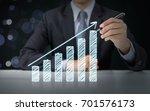 businessman present graph with... | Shutterstock . vector #701576173