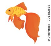 A Cartoon Goldfish. Stylized...