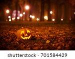 Smiling Halloween Pumpkin In...