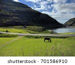 nordic natural landscape  faroe ... | Shutterstock . vector #701586910