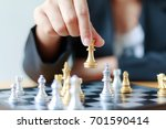close up shot hand of business... | Shutterstock . vector #701590414