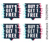 buy 1  2  3 get 1 free. set of... | Shutterstock .eps vector #701590594