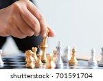 close up shot hand of business...   Shutterstock . vector #701591704