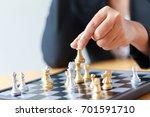 close up shot hand of business...   Shutterstock . vector #701591710