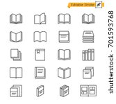 book thin icons. editable... | Shutterstock .eps vector #701593768