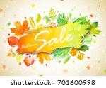 autumn season sale banner.... | Shutterstock .eps vector #701600998