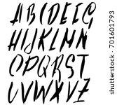 hand drawn dry brush font.... | Shutterstock .eps vector #701601793