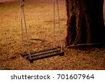 lonely swing | Shutterstock . vector #701607964