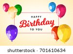 happy birthday greeting card... | Shutterstock .eps vector #701610634