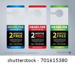 door hanger design template ... | Shutterstock .eps vector #701615380