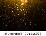 Abstract Gold Bokeh With Black...