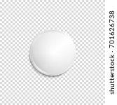 Realistic White Badge. Paper...