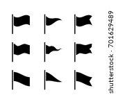 set of black flag vector icon... | Shutterstock .eps vector #701629489