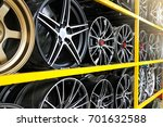 detail of magnesium alloy wheel ... | Shutterstock . vector #701632588