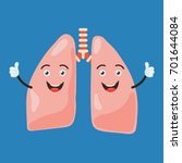 funny happy lung character show ... | Shutterstock .eps vector #701644084