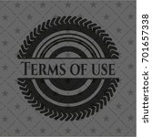 terms of use retro style black...