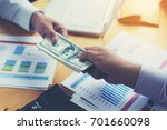 businessmen are paying... | Shutterstock . vector #701660098