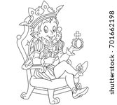 coloring page of cartoon young... | Shutterstock .eps vector #701662198