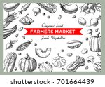 background with vegetables... | Shutterstock .eps vector #701664439