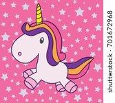 unicorn illustration vector | Shutterstock .eps vector #701672968
