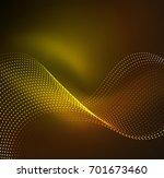 vector wave particles... | Shutterstock .eps vector #701673460