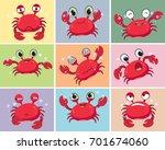 Illustration Of Cartoon Crab...