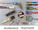 Old Used Paint Brushes Wiew...