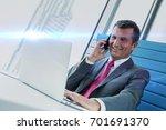 smiling mature businessman... | Shutterstock . vector #701691370