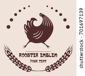 logo of the poultry farm. | Shutterstock .eps vector #701697139