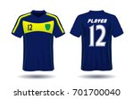 soccer jersey template. mock up ... | Shutterstock .eps vector #701700040