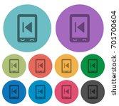 mobile media previous darker... | Shutterstock .eps vector #701700604