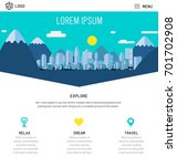 one page website design with... | Shutterstock .eps vector #701702908