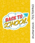 back to school card with color...   Shutterstock .eps vector #701704963