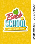 back to school card with color... | Shutterstock .eps vector #701705020