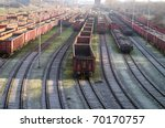 Railroad With Trains
