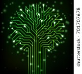 circuit printed board in the...   Shutterstock .eps vector #701707678