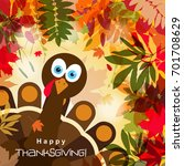 template greeting card with a... | Shutterstock .eps vector #701708629