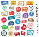 sale stickers modern design... | Shutterstock .eps vector #701713318