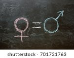 the female gender symbol is... | Shutterstock . vector #701721763